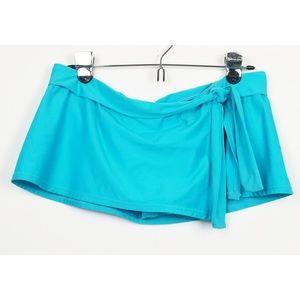 Tommy Bahama medium swimsuit skirted bottom blue